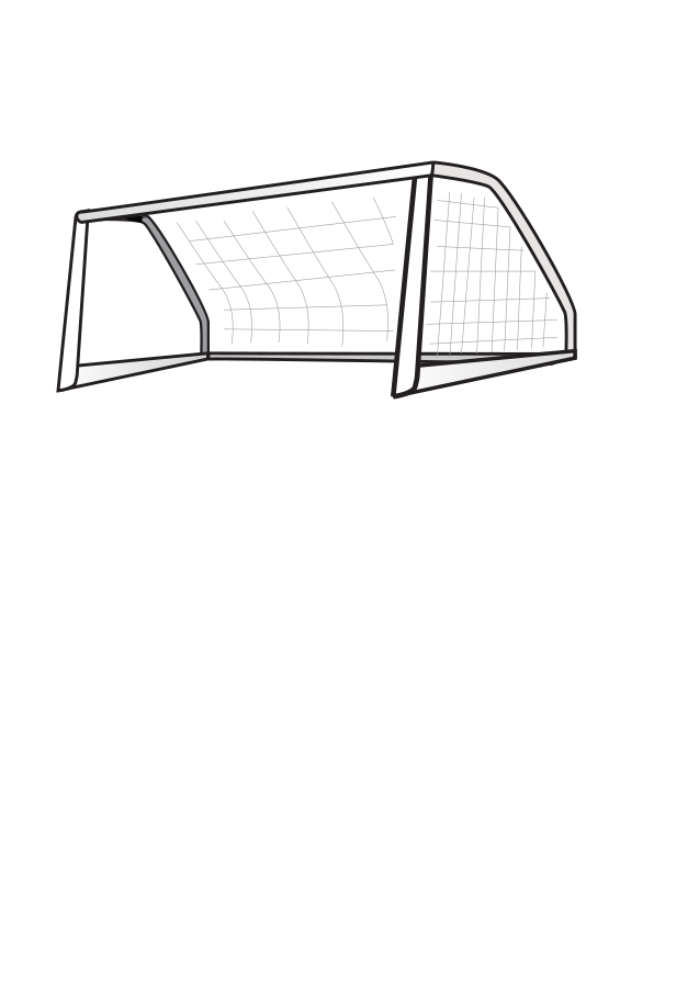 Soccer Goal small clipart 300pixel size, free design