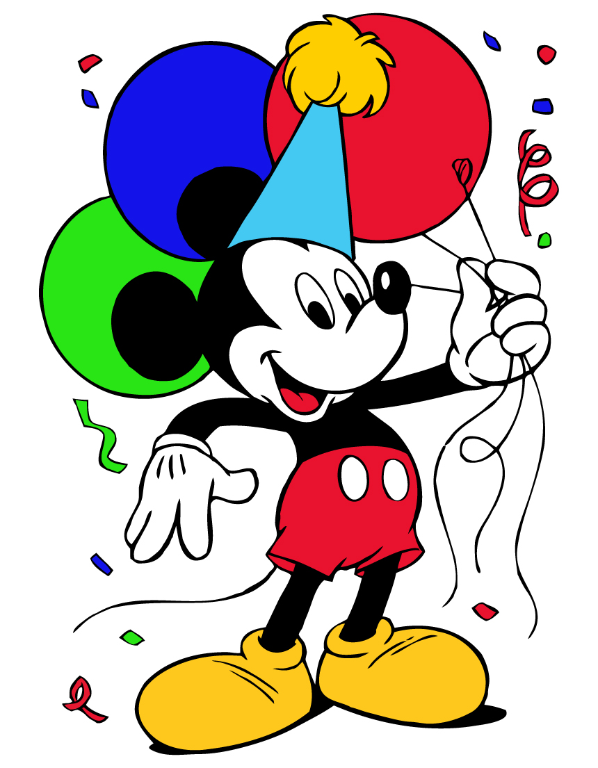 Mickey Mouse Birthday Clipart | Clipart Panda - Free Clipart Images