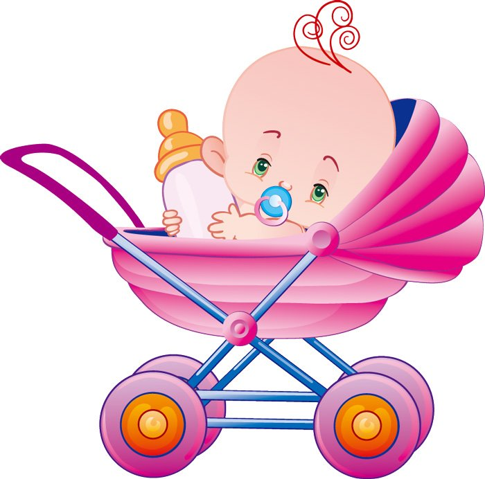 Cartoon Baby Bottles And Baby Car Vector Baby Magazine ...