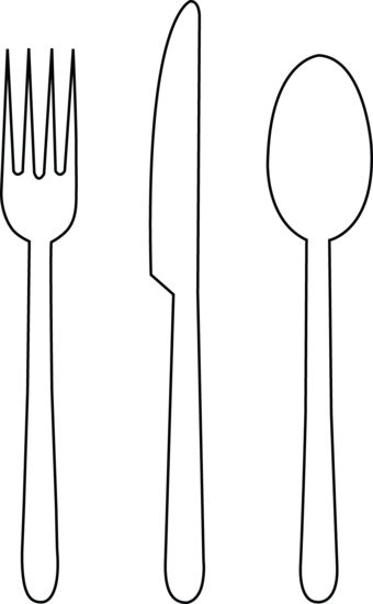 Line Drawing Knife And Fork : Fork outline cliparts
