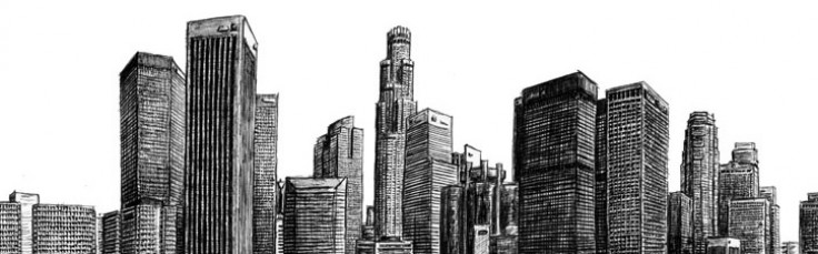 Los angeles skyline drawing
