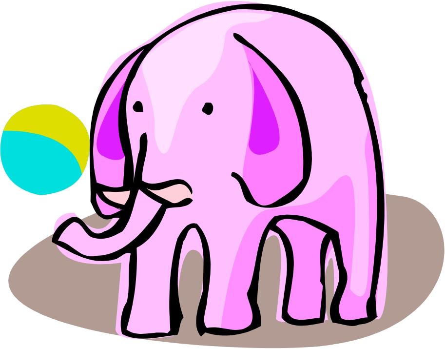 clip art pink elephant - photo #44