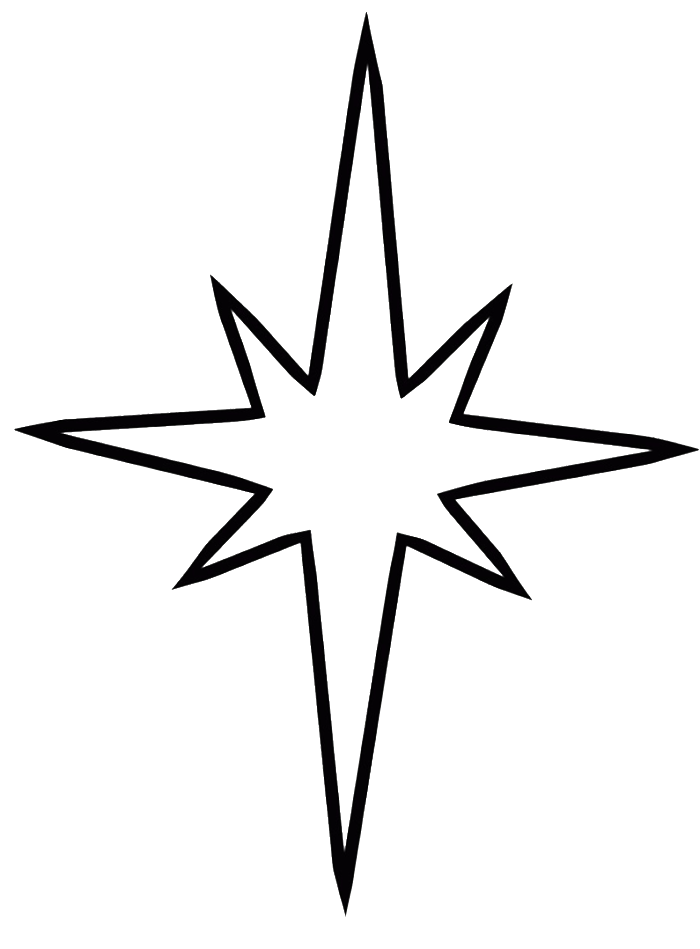 Simple christmas images for Christmas tree star coloring page