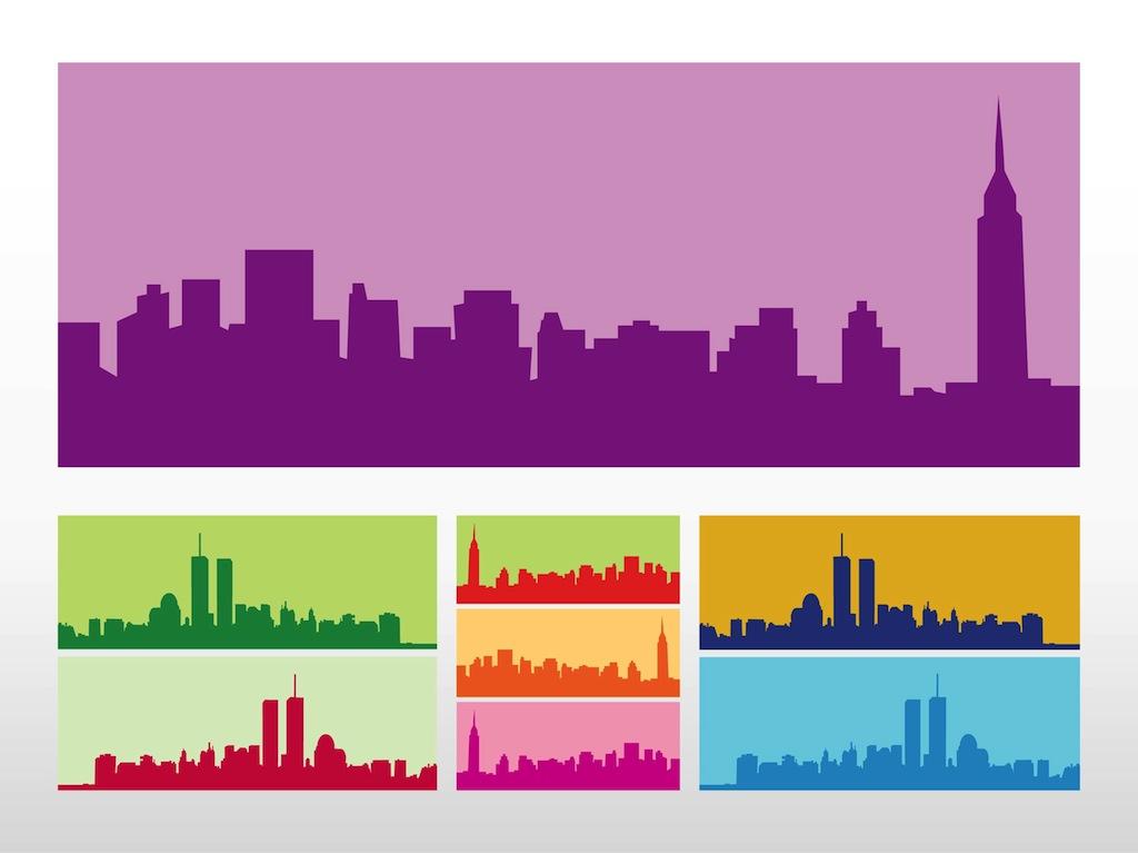 New york city skyline outline for New york city design company