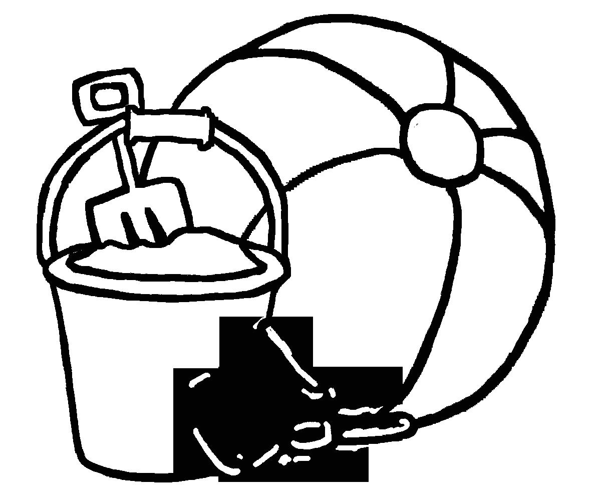 Beach Ball Clip Art Black and White Cliparts