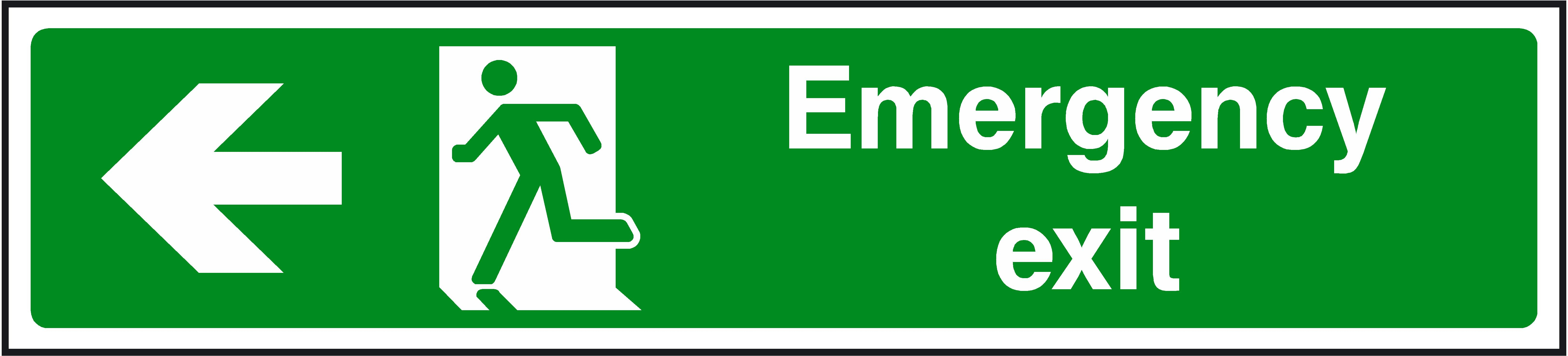 Emergency exit sign cliparts emergency exit sign safety equipment that every office should have buycottarizona Images