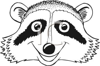 Black And White Clipart Raccoon - Cliparts.co Raccoon Face Clip Art Black And White