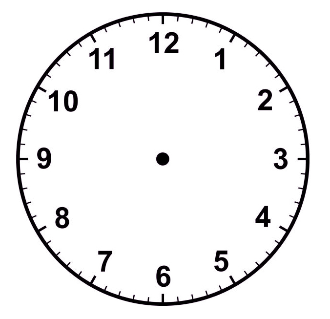 Analog Clock Without Hands Cliparts Co