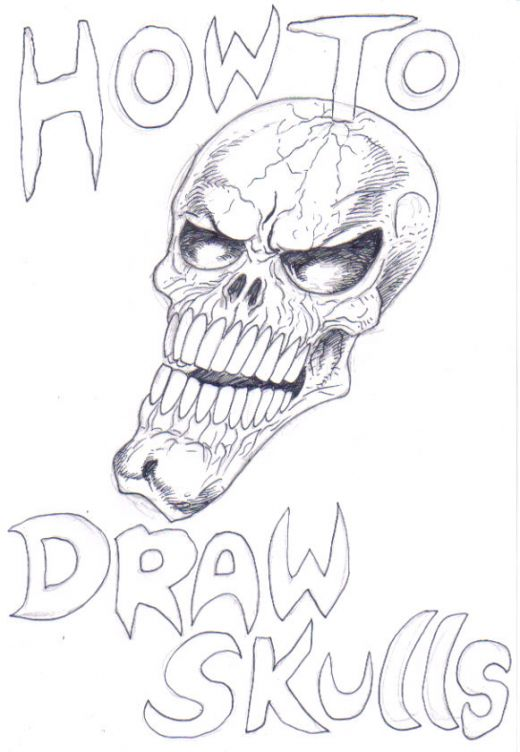 how to draw a cool skull easy