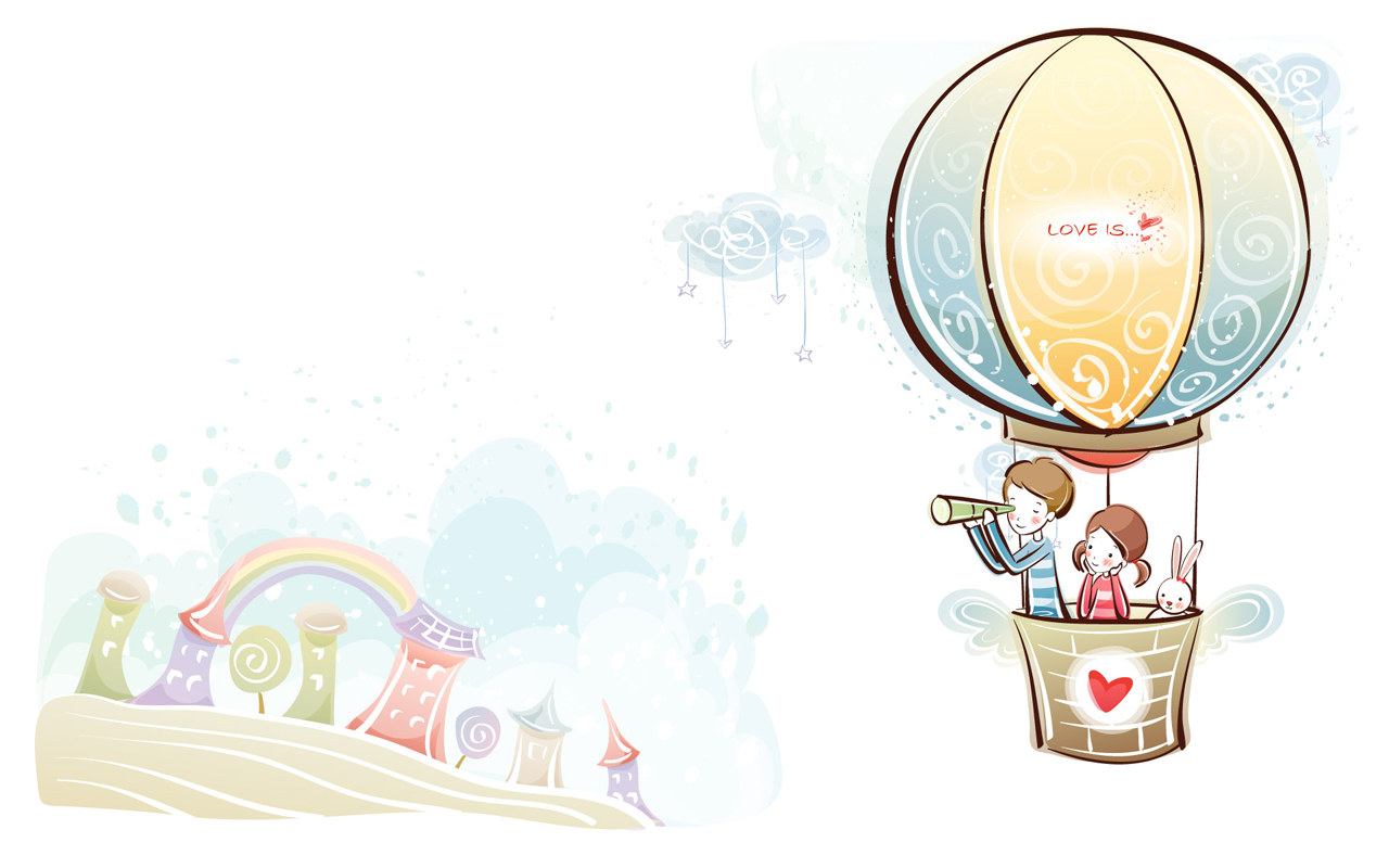 Valentine's day Wallpaper - Valentine's Day Cartoon - Valentine's ...