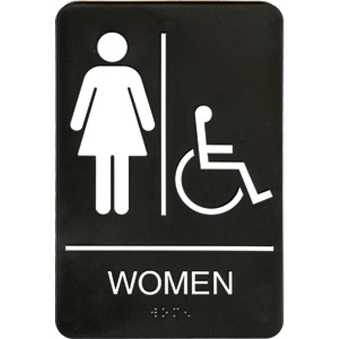 Womens Public Bathroom Toilet Video: WoMENS RESTROOM SIGN