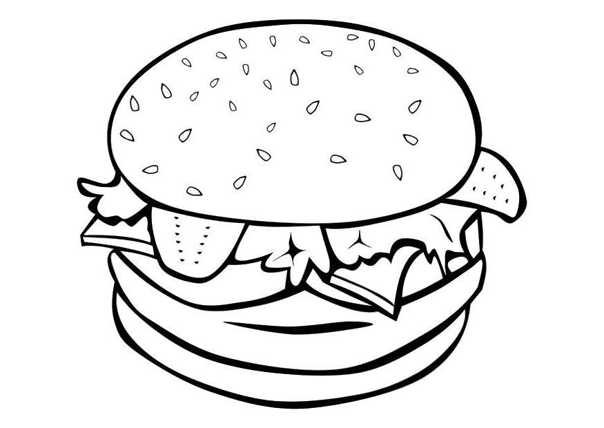 coloring pages of junk food - photo#36
