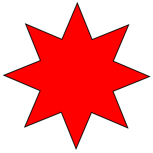 File:Eight rayed star (red).svg - Wikimedia Commons