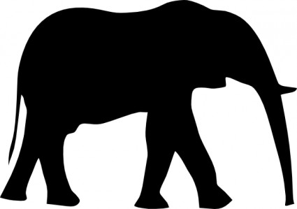 Elephant Silhouette clip art Vector clip art - Free vector for ...