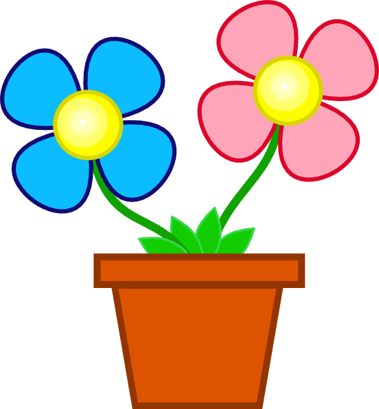 Flowers In A Vase clip art - vector clip art online, royalty free ...