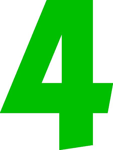 Number 4 Clip Art