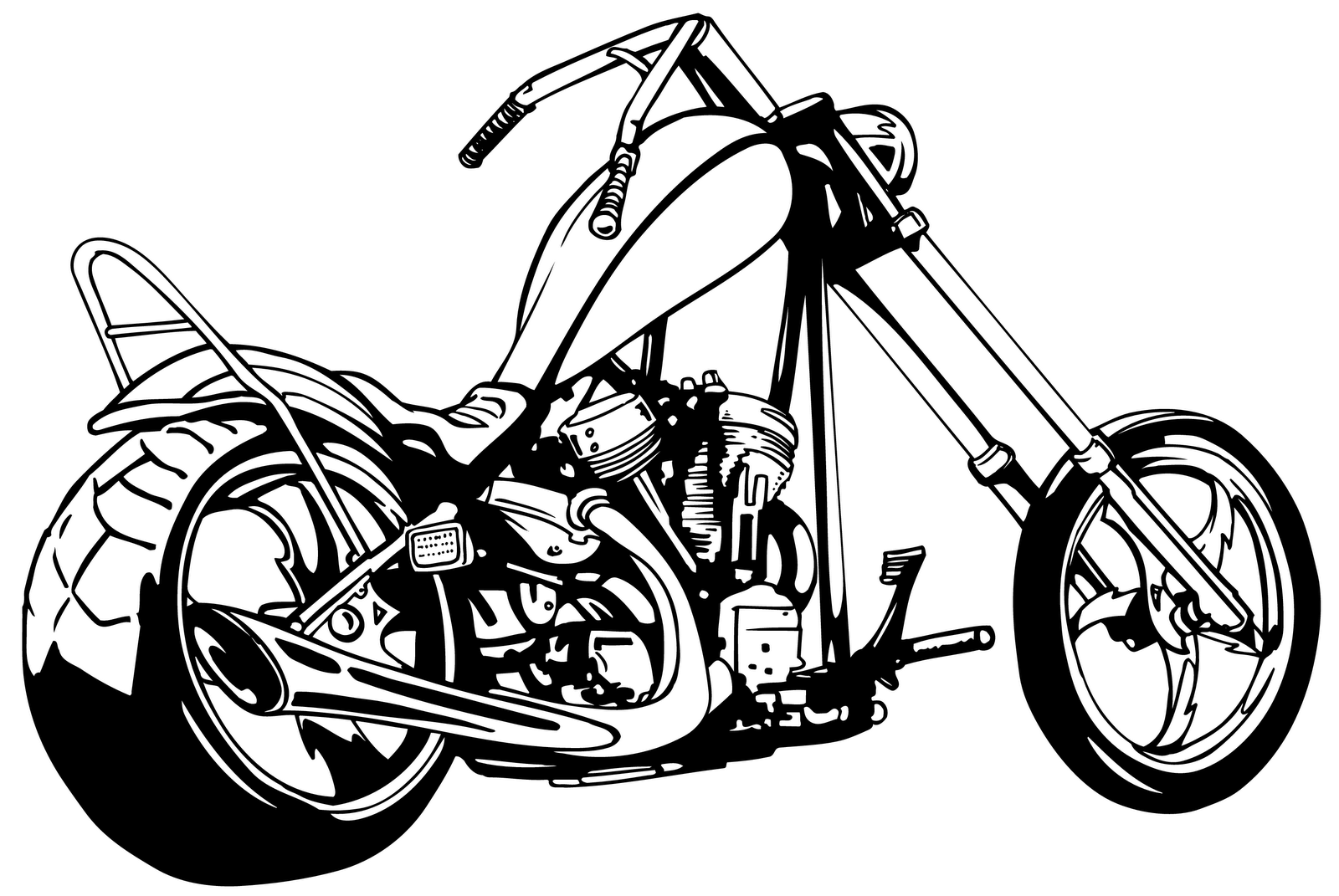 Harley Davidson Clipart - Cliparts.co