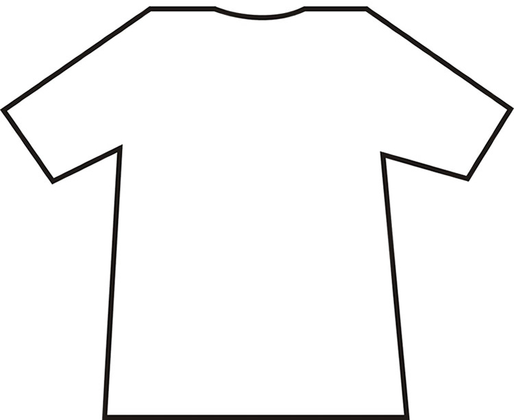 T Shirt Printable Template Cliparts Co