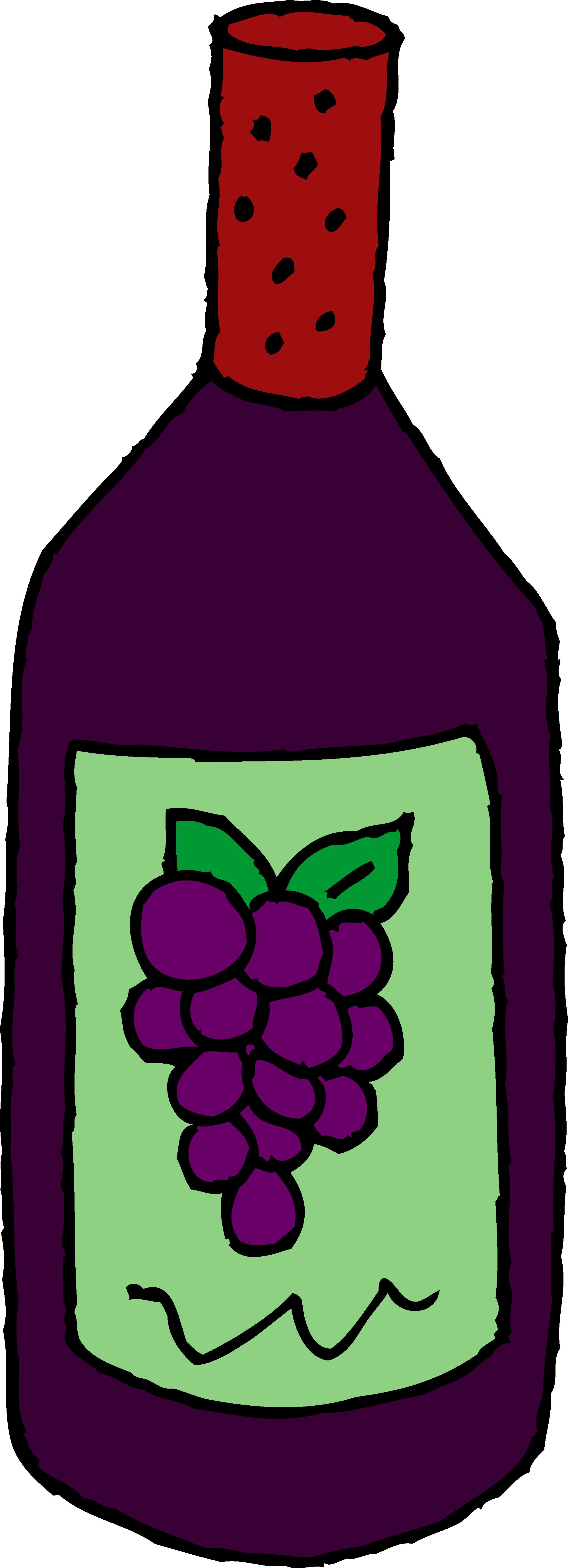 Bottle of Red Wine Clipart - Free Clip Art