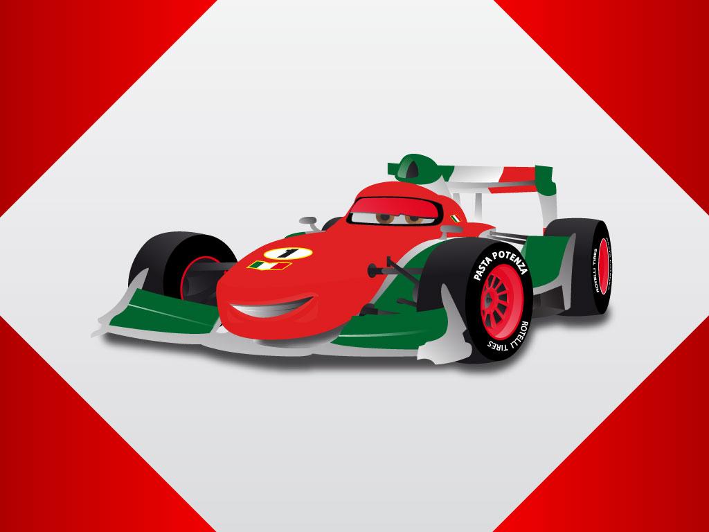Cartoon Image Formula  Racing Car