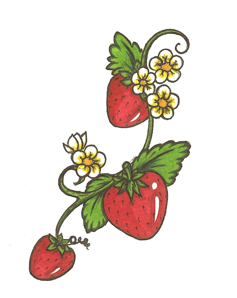 Strawberry Vine Tattoo - Cliparts.co
