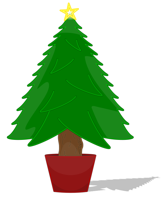 Christmas Tree Outline Clip Art - Cliparts.co