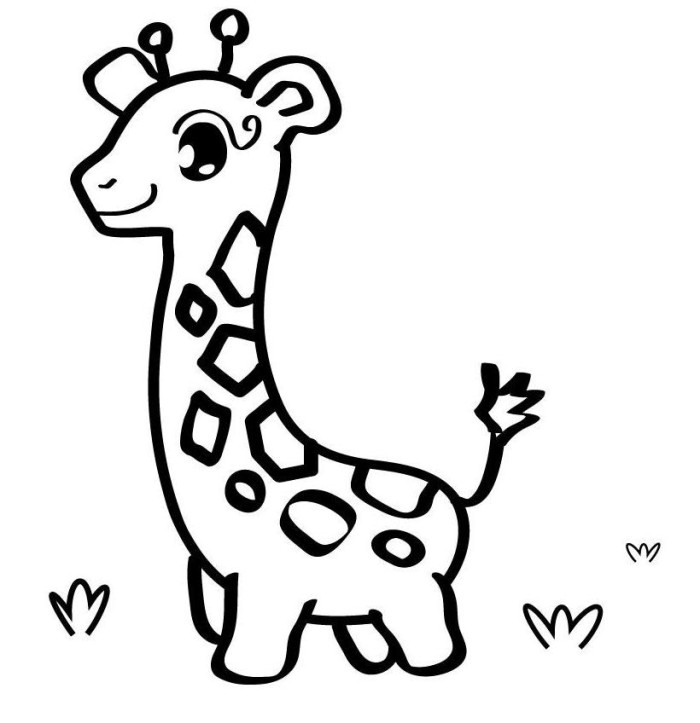 Cute Baby Giraffe Coloring Page - Animal Coloring Pages on ...