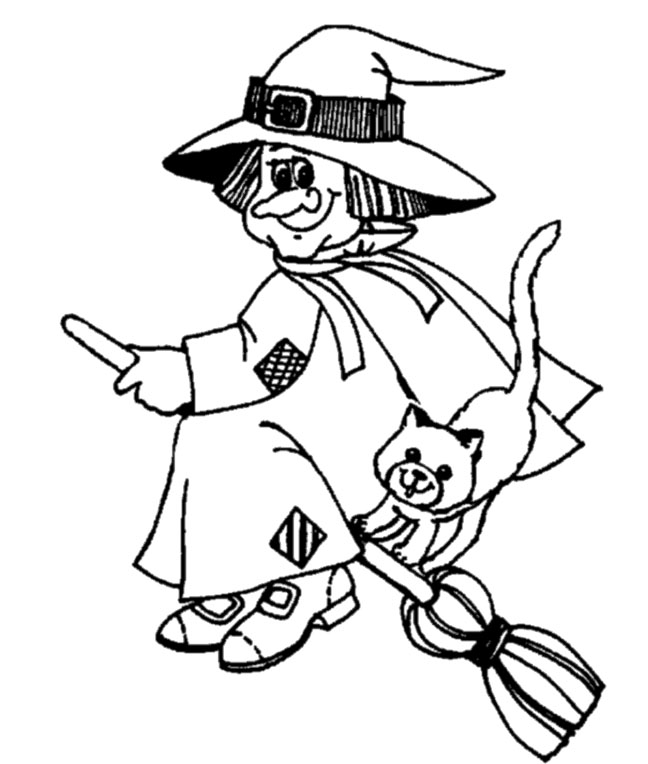 cute witch halloween coloring pages - photo#12