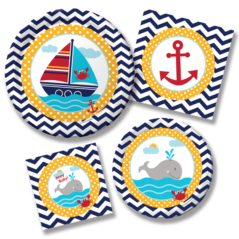 Nautical graphics for Anchor decoration party