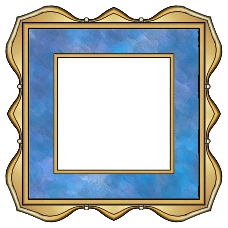 ArtbyJean - Paper Crafts: SCRAPBOOK FRAMES - Set A24 - Blue ...