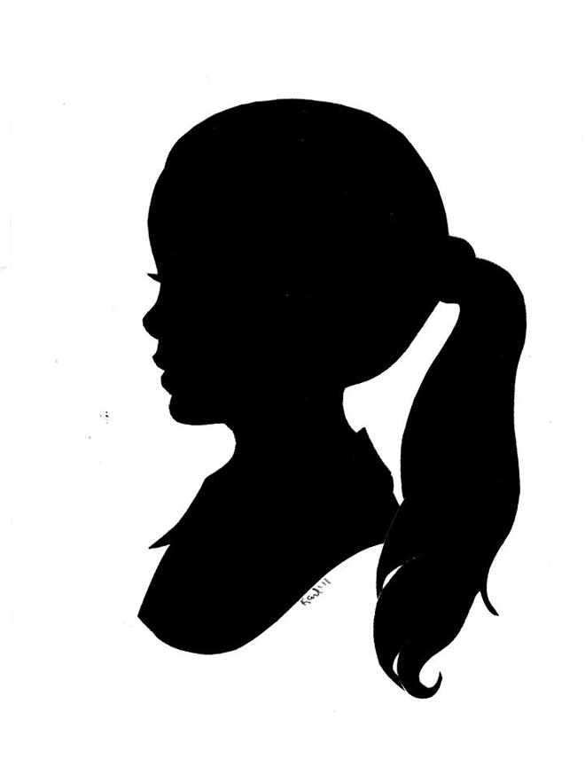 Silhouette Of Girl - Cliparts.co