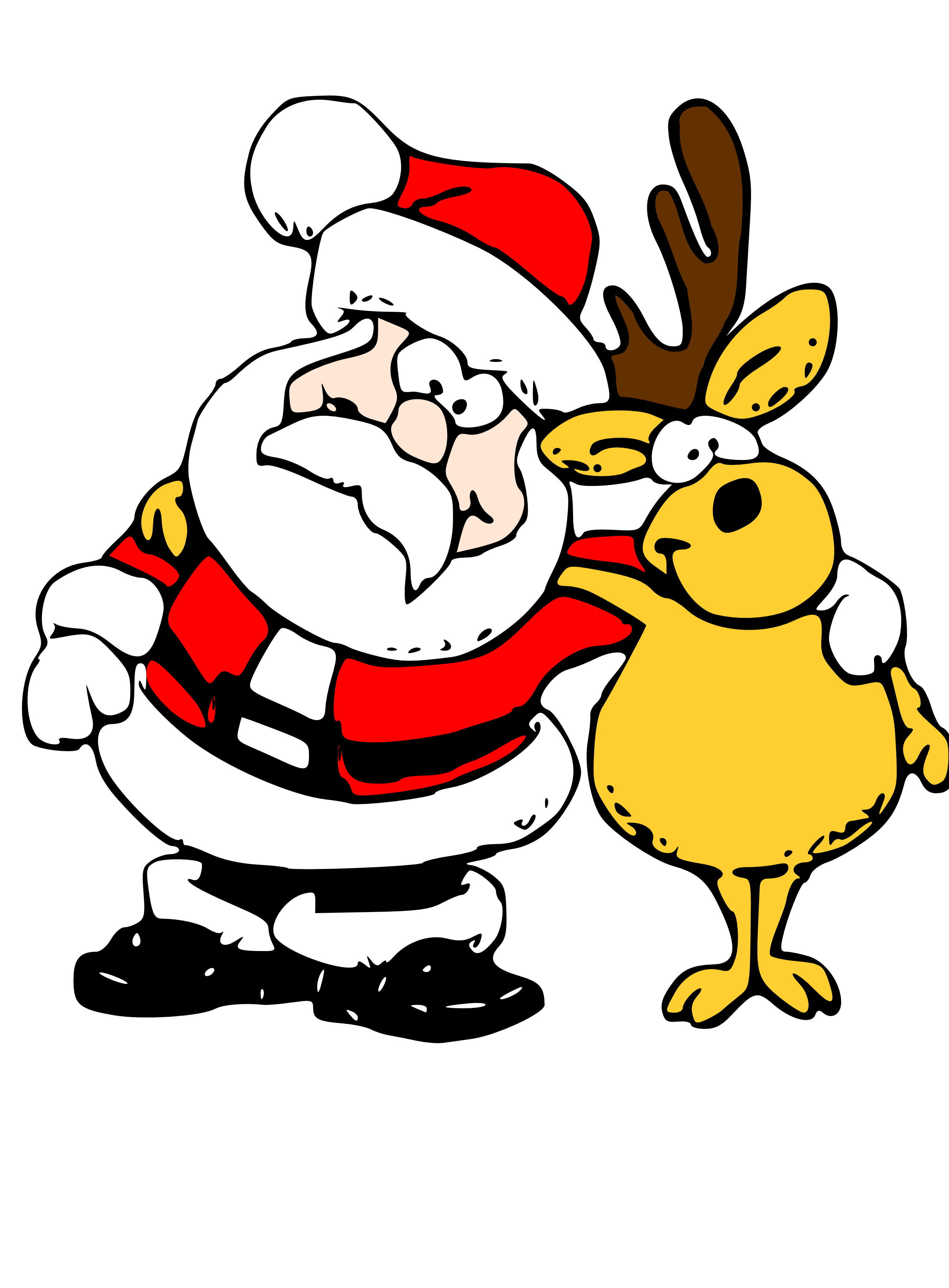 Clip Art: Santa and Reindeer Christmas Xmas Art ... - ClipArt Best ...