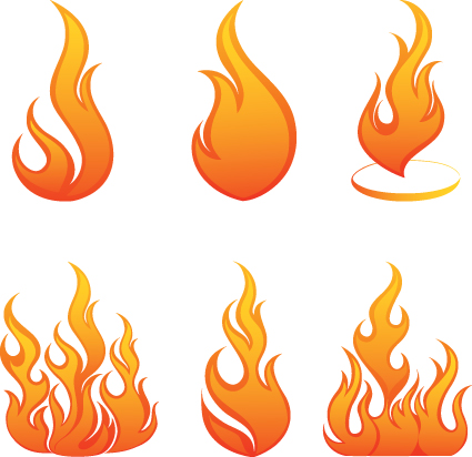 Different Flames icons design vector 02 - Other Icons free download
