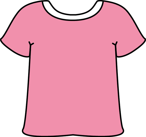 Pink Tshirt with a White Collar Clip Art - Pink Tshirt with a ...