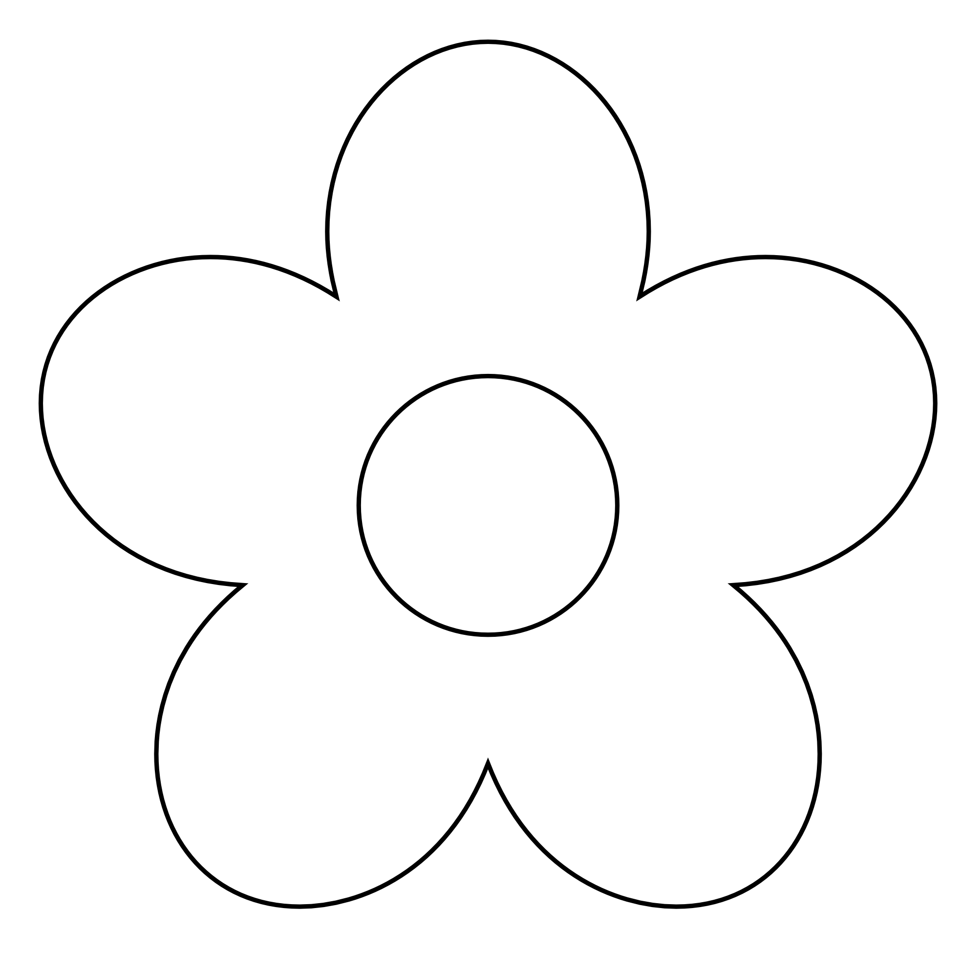 Flower Clipart Black And White | Clipart Panda - Free Clipart Images
