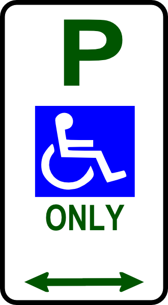 Handicap Signs Printable - ClipArt Best