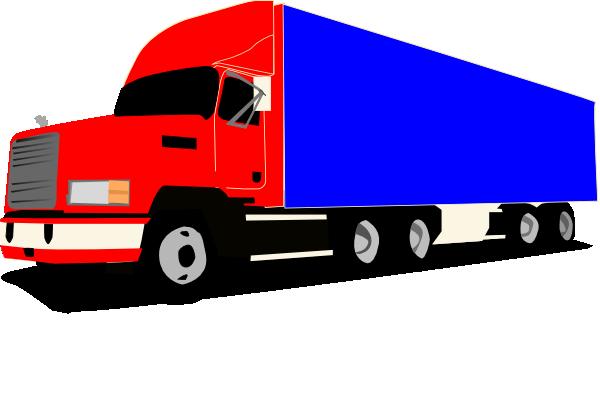 Truck 18 Wheeler Trucker clip art - vector clip art online ...