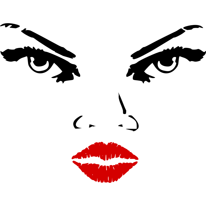 Clipart - Woman eyes nose lips