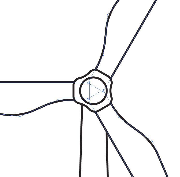 Wind Turbine icon in Wind Turbine Clipart Black And White