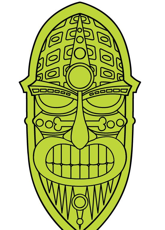 Pix For > Happy Tiki Clip Art