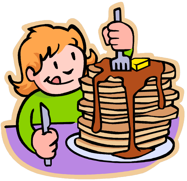 Pancakes And Bacon Clipart