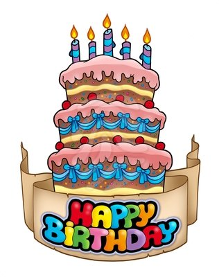 28 Birthday Cake Clipart