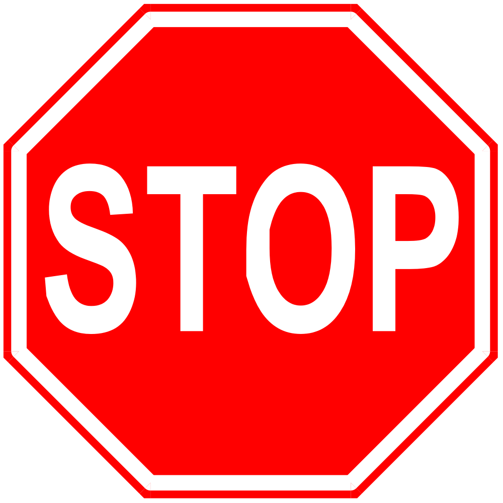Blank Stop Sign Clip Art - Cliparts.co