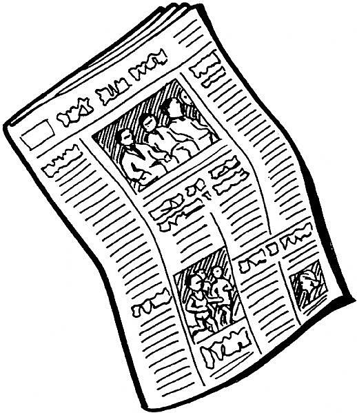 Reading Newspaper Clipart | Clipart Panda - Free Clipart Images