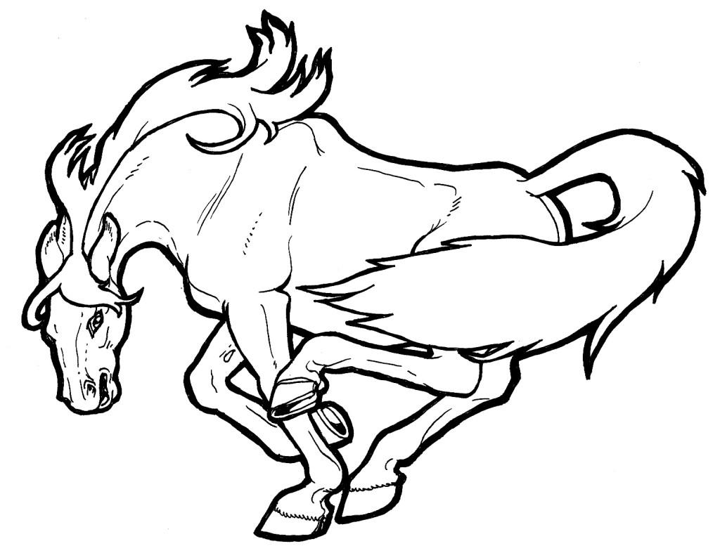Cartoon Mustang Horse - Cliparts.co