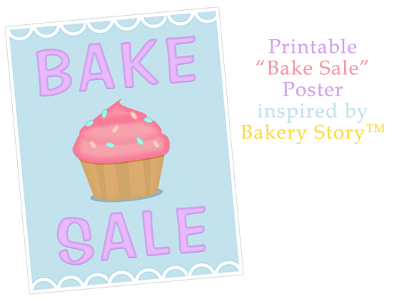 bake sale template word