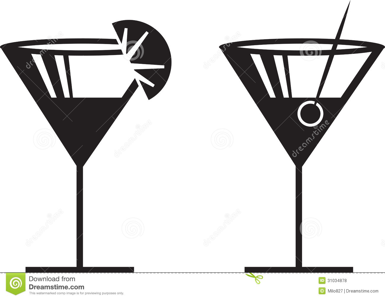 Martini Glass Clip Art | School Clipart