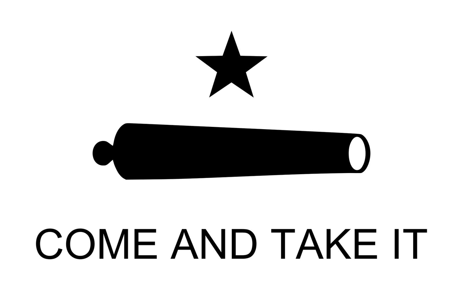 Public Domain Clip Art Photos and Images: Texas Flag Come and Take It