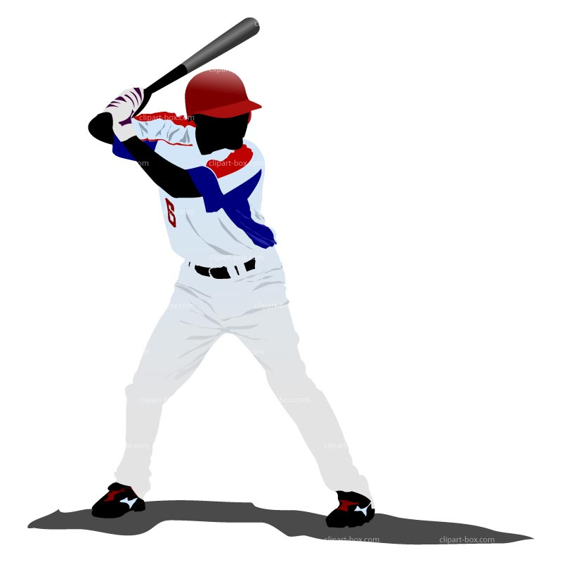 free clipart of a baseball player - photo #30