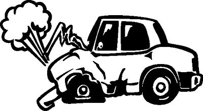 Wrecked Car Cartoon